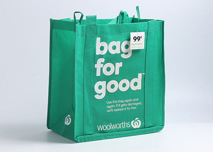 Promotional Non Woven Tote Bag 100gsm 31*18.5*34cm Foldable Bag Style